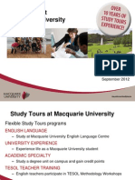 Study Tours Experience