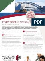 Study Tours Flyer