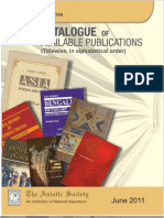 Catalogue of Asiatic Socisty