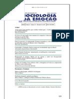 Revista Brasileira de Sociologia da Emoção