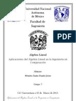 Aplicaciones del Álgebra Lineal en la Ingeniería en Computación
