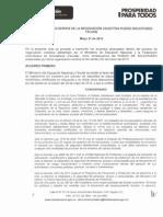 Acta Final de Acuerdos Negociacion Colectiva Pliego Solicitudes Fecode Mayo 21 de 2013