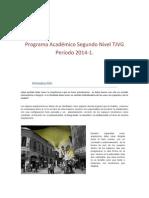 Programa Académico Segundo Nivel 2014-1. VA