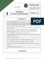 Prova Ministério da Fazenda ESAF - Maio-2009