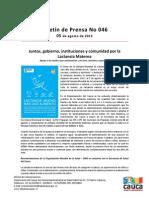 Boletín 046_ Juntos, gobierno, instituciones y comunidad por la Lactancia Materna