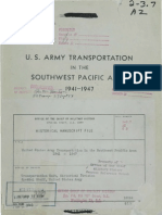 U.S. Army Transportation in the Southwest Pacific Area, 1941-1947.