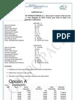 Finanzas I Primer Parcial 2013