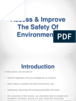 Topic 1 Assess & Improve the Safety of Environments