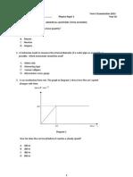 Physics Y10 Term 2 Exam Paper1