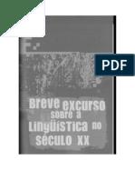 Breve Excurso Sobre a Linguistica No Seculo Xx