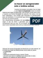 Cómo hacer un aerogenerador