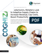 Manufacturers, Retailers Look to Adaptive Supply Chains to Increase Revenue, Cap Costs, Boost Productivity