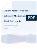 Can the markets add and subtract? mis-pricing in tech stock carve-outs Integrative Analysis