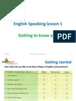 Speaking Lesson