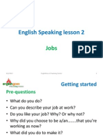 English Lesson - 2 - Jobs