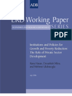 Institutions and Policies for Growth and Poverty Reduction
