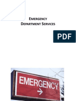 Emergency Department Services Pt. 1