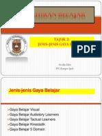Tajuk 2 - Jenis-Jenis Gaya Belajar