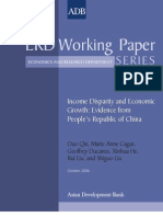 Income Disparity and Economic Growth
