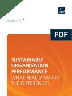 Sustainable Organisation Performance STF Interim Report