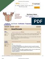 DeadThreads (SCJP Forum at JavaRanch)
