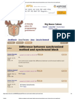 Difference Between Synchronized Method and Synchrozed Block (Java in General Forum at JavaRanch)