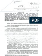 Senate Resolution 02 for Migrant Workers or OFWs