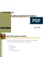 Auditing Application Systems
