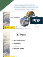 Nueva regulación operaciones aéreas extinción incendios forestales-2013