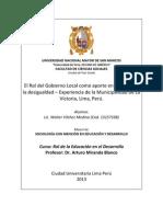 ENSAYO CURSO ROL DE LA EDUCACIÓN EN EL DESARROLLO