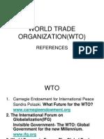 World Trade Organization(Wto)References