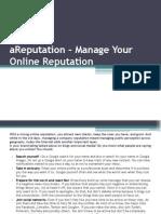 aReputation – Manage Your Online Reputation