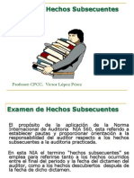 Hechos Posteriores - Subsecuentes