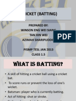 Cricket (Batting)
