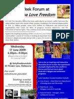 ECCV Refugee Week Forum Flier