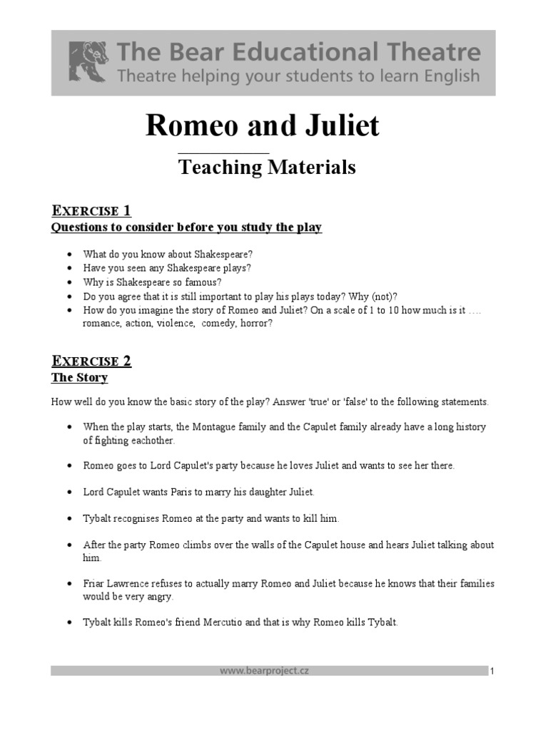 romeo and juliet story in simple english