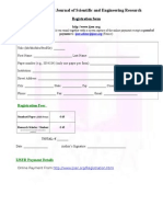 Registration Form for research paper