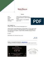 Wein-plus.eu _ Ero 2012, Nero d'Avola in purezza Tenuta Di Fessina