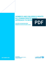 Women and Childrens Rights in a Development Centred Approach