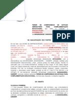 ESTAGIO OBRIGATORIO - MINUTA TERMO DE COMPROMISSO com vínculo a CONVÊNIO 2013