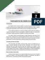 Tema 02 - Fundamentos del Diseño de Bases de Datos