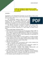 New Amendments in JAN 2013 - APR 2013 MARITIME REGULATIONS