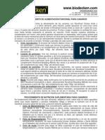 PROCEDIMIENTO BIODECKEN PARA LA ALIMENTACIÓN EFICIENTE Y TENENCIA ADECUADA DE CANARIOS