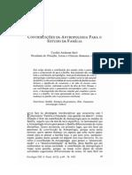 SARTI C - Contribuições da antropologia para o estudo da família