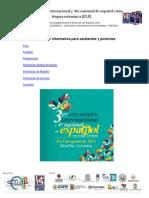 Circular Informativa Para Asistentes y Ponentes Encuentro ELE Medellin 2013