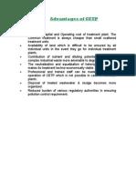 Advantages of CETP