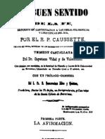 El Buen Sentido de La Fe-Tomo I-Caussette