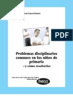 Problemas Disciplinarios Comunes en Los Ninos de Primaria y Como Resolverlos
