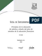 5 Principios de La Educacion de Adultos y Diseno Del Plan de Estudios