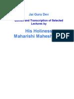 Lectures of Maharishi Mahesh Yogi